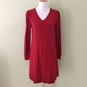 BNWT Ann Taylor Loft Knitted Dress - Red XS